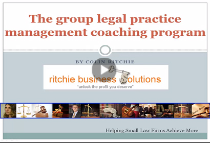 Group Legal Practice Management Coaching video