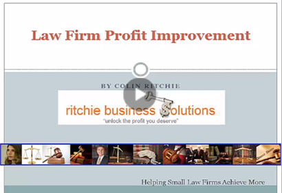 Law Firm Profit Improvement video